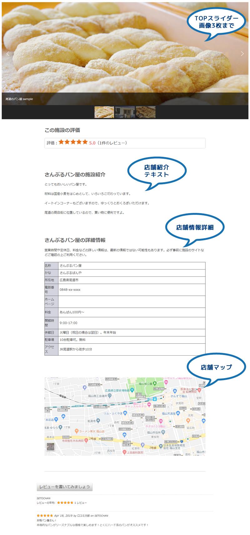 無料サンプル店舗紹介